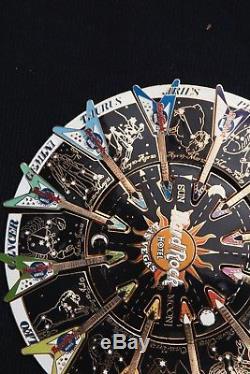 XL Hard Rock Cafe Pin Las Vegas ASTROLOGY PUZZLE Horoscope Zodiac guitar rainbow