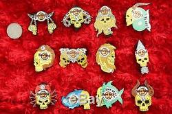 12 Hard Rock Café Pins Set Bruxelles Zodiac Skull Series Astrologie Calendrier Beaucoup