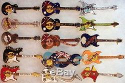 15 Hard Rock Cafe Melbourne Collection Guitare Pin Des Années 1990 Lot Hrc Htf Rares! Y2k