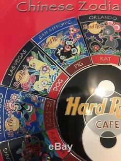 2001 Set Hard Rock Cafe 13 Zodiac Pin Rat Pig Yin Yang Centre 5000 Le Rare