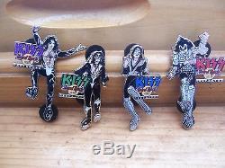 2004 Kiss Destroyer Hard Rock Café Pins Le 300 Set Complet Gene Ace Paul Peter