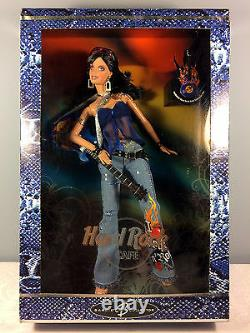 2005 Hard Rock Cafe Barbie Doll #3 Jeans With Blue Guitar + Collector Pin Onf