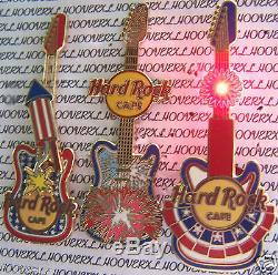 2006 Hard Rock Cafe Online Firecracker Illuminée / Curseur Guitare (3) Lot De Le100
