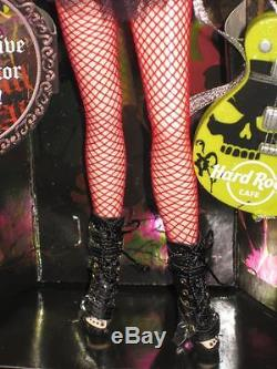 2008 Hard Rock Cafe Gothic Barbie Poupée / Hrc Collector Pin Gold Label L9663 Nrfb