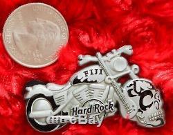 3 Hard Rock Café Pins Fidji Halloween 3d Étain Skull Squelette Lot Motos