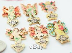 6 Hard Rock Cafe Pins Orlando Butterfly Fairy Girls Groupe D'ailes En Vitrail Lot