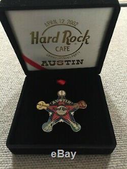 Austin Hard Rock Cafe Grande Fête Épinglette Avec Étui Personnel Personnel Fermé Rare