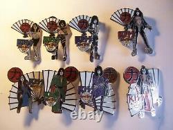 Baiser Vol. # 3 Japon Fan & Kimono Série 2005 Ensemble De 8 Hard Rock Café Pins Le 1000
