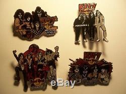 Baiser Vol # 8 Japon Albums'05 Pin Ensemble Du Groupe 4 Hard Rock Cafe Pins Le500