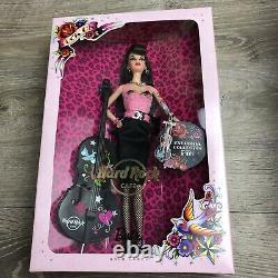 Barbie 2009 Hard Rock Cafe Barbie Rockabilly Rare Gold Label N6606 Avec Pin