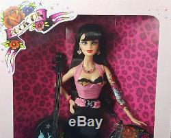 Barbie Hard Rock Cafe Poupée Rockabilly Basse Guitare Et Pin Nrfb Gold Label