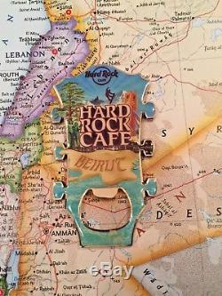 Beirut Liban Hard Rock Café Fermé Hrc Guitare Head Métal Magnet Opener