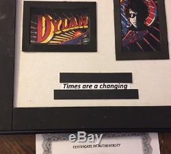 Bob Dylan A Signé Une Chemise De Golf Signée Encadrée 24x20 Hard Rock Cafe W Cert