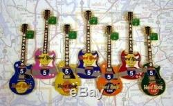 Café Encadré Hard Rock Interstate 5 8 X Pin Badge Set Coa Personnel Rita Mbe Signé