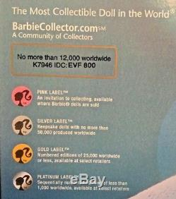 Collectors Hard Rock Cafe 2007 Barbie Withguitar Pin Gold Label K7946 Nib Le Doll