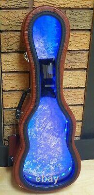 Collectors Pin Display Guitar Shaped Led Perfect For Pin/badge Hard Rock Cafe