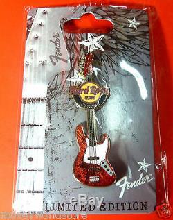 Cyprus Hard Rock Cafe 2012 Fender Guitar Pin Nouveau, Édition Limitée, Discontinue