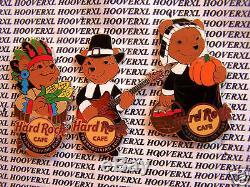 Ensemble De 3 Épinglettes Bear's Thanksgiving 2009 En Ligne Pour Le Hard Rock Cafe