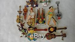 Épingles De Café De Hard Rock 100 Broches, Tout 2005 Ou Avant, Comprend U. S. Et Intertnal