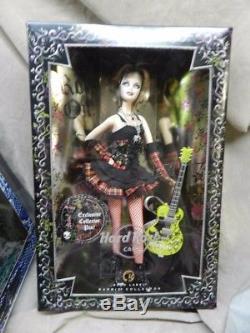 Étiquette Nrfb Gold Hard Rock Cafe Barbie Poupée 2008 W Ltd Exclusive Hrc Pin & Guitare