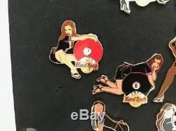 Hard Rock Cafe 2005 En Ligne Sexy Girl Collection Complète De Balles De Piscine 16 Pins