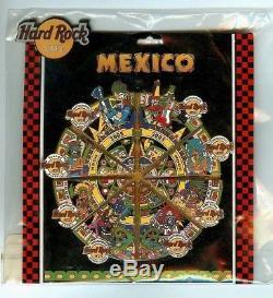 Hard Rock Cafe 2005 Mexique Aztec Calendar 8 Épingles Puzzle Set Sur Card Ltd Ed 2400