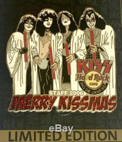 Hard Rock Cafe 2006 Rio De Janeiro Merry Kissmas Personnel Kiss Pin! Le 100