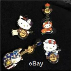 Hard Rock Cafe 4 Ensemble D'épingles Hello Kitty Yokohama Du Japon Sanrio Limited Edition