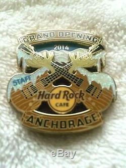 Hard Rock Cafe Anchorage 2014 Ouverture Officielle Du Personnel Pin Le 200 Rare Personnel Pin