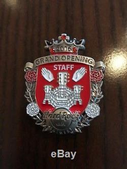 Hard Rock Cafe Antwerp Grande Ouverture Staff Pin 2016 Très Rare