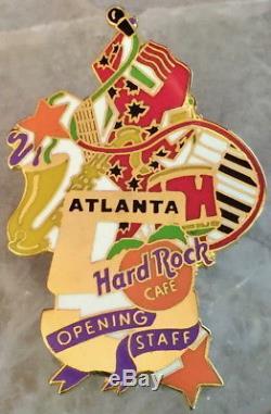 Hard Rock Cafe Atlanta 1997 5ème Anniversaire Or 5 Avec Pin N ° 461 Du Personnel D'ouverture
