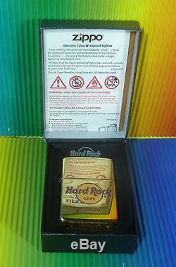 Hard Rock Cafe Ayia Napa 1 Briquet Zippo Hcr En Laiton, Fabriqué Aux États-unis, Boîte Neuve