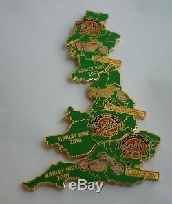 Hard Rock Cafe Badge Pin Harley Ride 2001 Puzzle Set