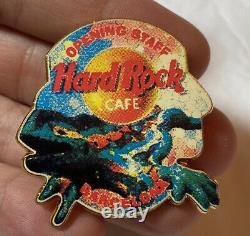 Hard Rock Cafe Barcelona Inauguration Staff'97 Pin Design Original Très Rare