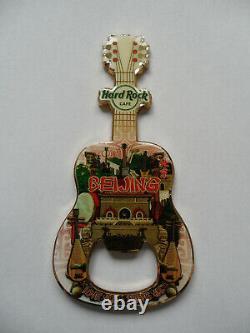 Hard Rock Cafe Beijing City Tee Design Guitare & Logo Magnet Bouteille De Bouteille 2