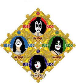 Hard Rock Cafe Belo Horizonte 1ère Anniv. Kiss Puzzle Set De 4 Goupilles Gene Paul