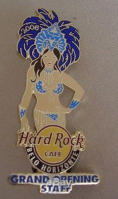 Hard Rock Cafe Belo Horizonte Grande Ouverture Staff Sexy Girl Pin Fermé