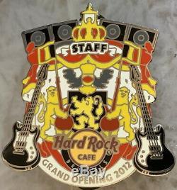Hard Rock Cafe Bruxelles 2012 Ouverture Officielle Personnel Pin Gos Le 150 Hrc # 68598