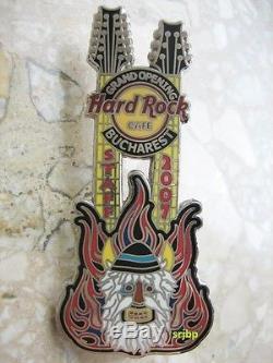 Hard Rock Cafe Bucarest Inauguration Staff Pin De Guitare Le 200