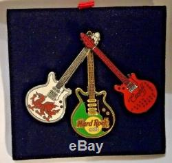 Hard Rock Cafe Cardiff Grand Opening Vip Partie3 Guitars Attaché Pin In Box 2003