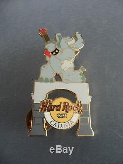 Hard Rock Cafe Catania Sicile 2004 Éléphant Avec Hrc Pin Rouge (rare)