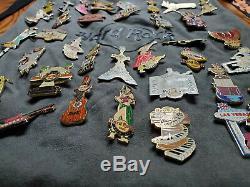 Hard Rock Cafe Collection Pins Lot De 36 Sac Rare + Longe Pinups Filles Guitare