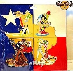 Hard Rock Cafe Dallas Four Seasons Puzzle Jeu Complet De Quatre 2004 Pins Nouveau Le