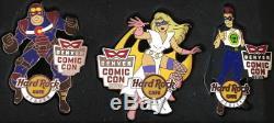 Hard Rock Café Denver 2015 Comic Con Super Héros En Boîte 3 Pin Set Hrc # 84623