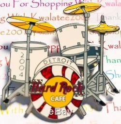 Hard Rock Cafe Detroit White Stripes Ensemble De Batterie 2004 Épingles Third Man Records Nouveau