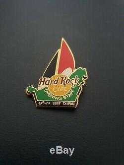 Hard Rock Cafe Dubai Staff Ouverture Officielle Pin. Rare Et À La Main. Ne Pas Manquer