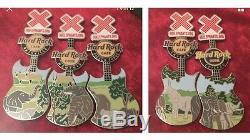 Hard Rock Cafe Ensemble De Broches De Revers D'éléphant Hrc Aza Série Complète Elefanten 43 Épingles