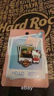 Hard Rock Cafe Fukuoka Japon Bonjour Kitty Pin Non À Vendre Sceau Hrc Lot De 5