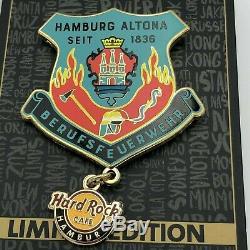 Hard Rock Cafe Hambourg Fire Department 4 Pins Série Complète Épuisé