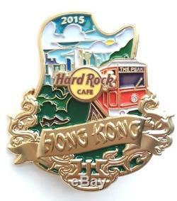 Hard Rock Cafe Hong Kong Le Sommet Icon City Series 2015 Pin Le100
